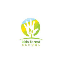 kids forest school nature friendly design vector image