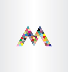 m letter colorful geometry design element vector image