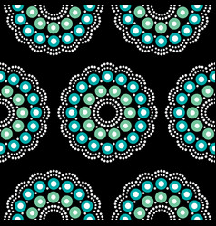Mandala bohemian dot painting pattern vector