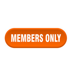 Members only button members only rounded orange vector