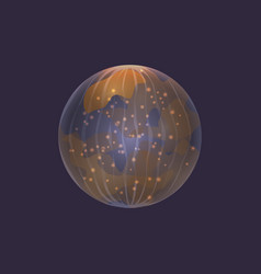 Mercury planet in deep space icon vector