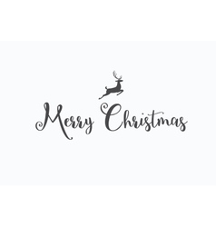 Merry Christmas lettering typography Handwriting vector image