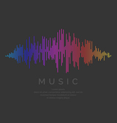 Music wave in the form vector