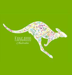 ornate kangaroo sketch for your design vector image