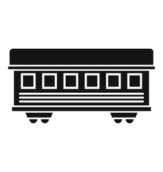 Passenger train car icon simple style vector image
