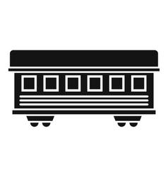 Passenger train car icon simple style vector