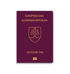 Passport slovakia vector