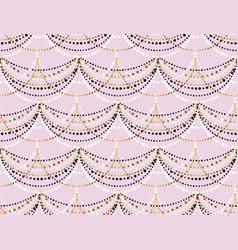 pastel rose minimal dots garland seamless pattern vector image