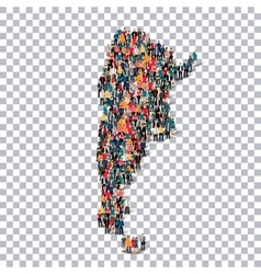 People map country argentina vector