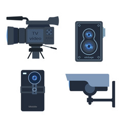 photograph digital equipment camera vector image
