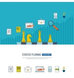 Planning strategy concept Investment growth vector image