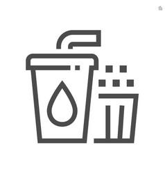 popcorn and beverage icon design 48x48 pixel vector image