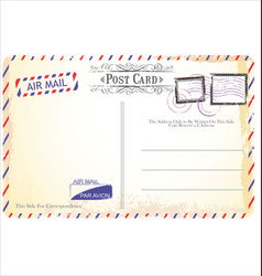 postcard in air mail style vector image