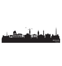 rome italy city skyline silhouette vector image