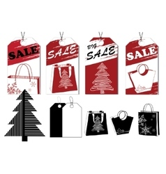 Sale tags Labels for discount Stylization vector image