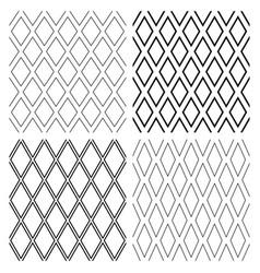 seamless diamonds patterns vector image