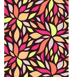 Seamless stylish petal pattern vector