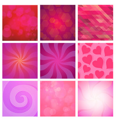 set of abstracy background red and pink vector image