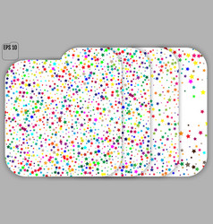 set of colorful stars on white background starry vector image