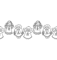Singing angels background vector