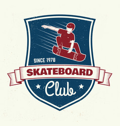 Skateboarding club badge vector