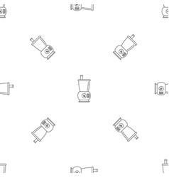 Small food mixer pattern seamless vector