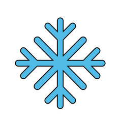 snowflake winter icon image vector image