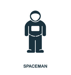 spacemen icon flat style icon design ui vector image