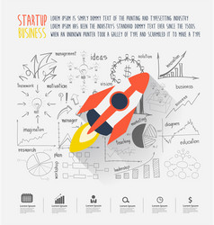 Startup business idea concept vector