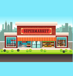 Supermarket grocery store vector