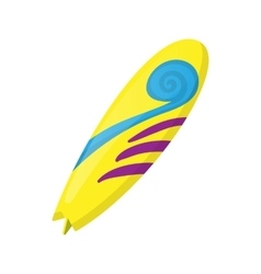 Surfboard icon in cartoon style vector image
