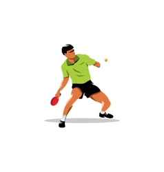 Table tennis sign vector image