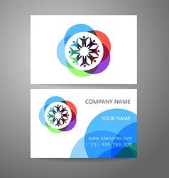 Team company logo business card template vector