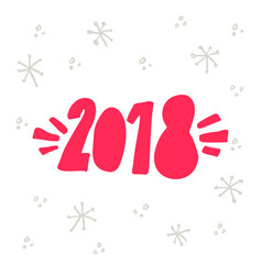 Welcome 2018 lettering vector