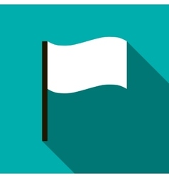 White flag icon flat style vector