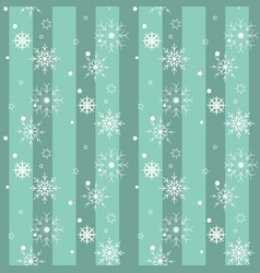 white snow flake on blue background christmas vector image