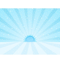 winter snowy sunrise vector image