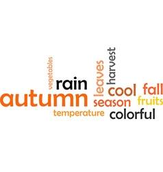 word cloud autumn vector image