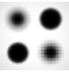 Abstract Halftone Backgrounds Set vector image vector image