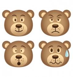 bear expression vector image