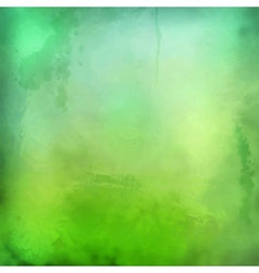 Decorative grunge green background vector image