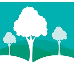 Forest nature and tree design vector image