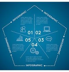 Infographic pentagon template e for diagram grap vector