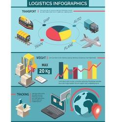 Logistics Infographic Set vector image vector image