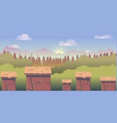 mobile app game landscape level vector image
