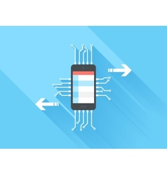Mobile Data Processing vector image vector image