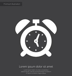 alarm clock premium icon white on dark background vector image