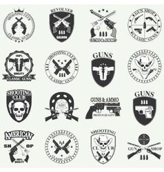 Classic Guns emblem vector image