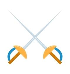 Colored fencing sword icon vector