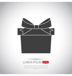 Gift icon Flat design vector image